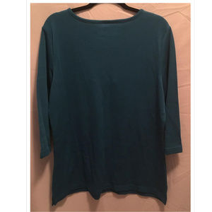 Denim & Company Tops - Size Large D&Co Denim & Company Knit Top Green